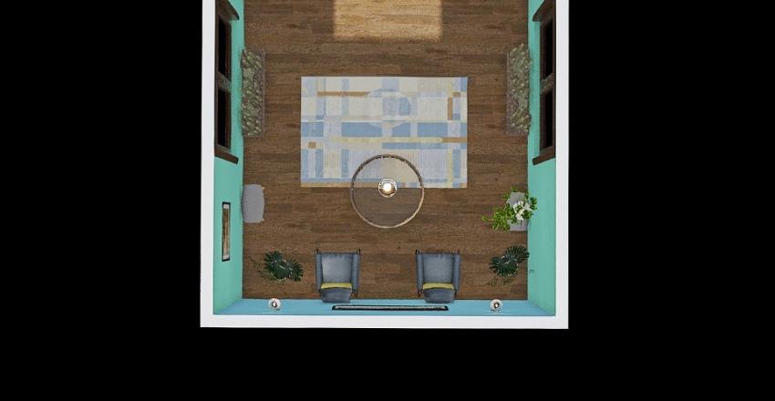 Tropical Lobby  Interior Design Render