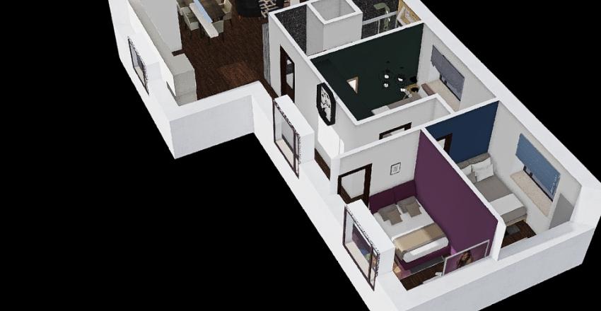 Upper flor patent's house Interior Design Render