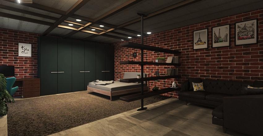 Studia Loft by Anastasia Smirnova  Interior Design Render