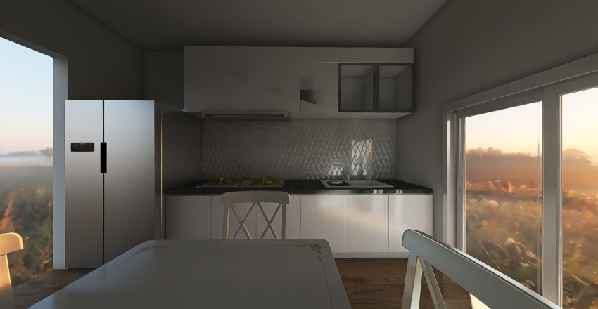Cucina_Martherita Interior Design Render