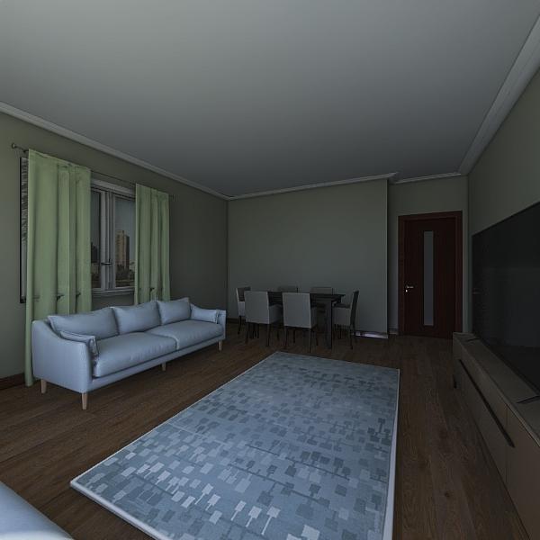 üçgen arsa Interior Design Render