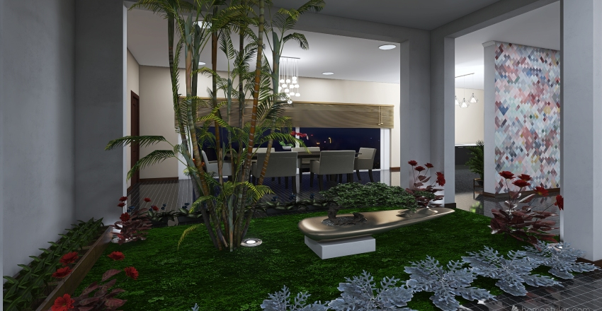 full house #HSDA2020Residential Interior Design Render