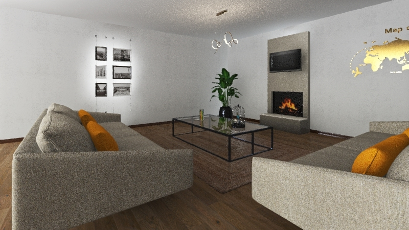 sea relaxation house Interior Design Render