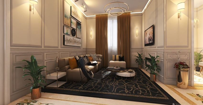"""#HSDA2020Residential""""luxury reception hall Interior Design Render"""