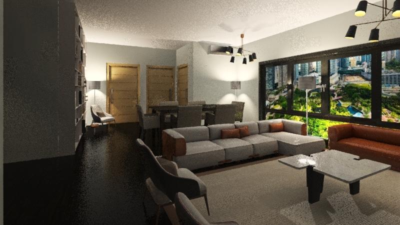 appartamento 1 camera e 1 ufficio (90mq) Interior Design Render