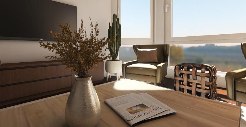 Little apartment/ Living room Interior Design Render
