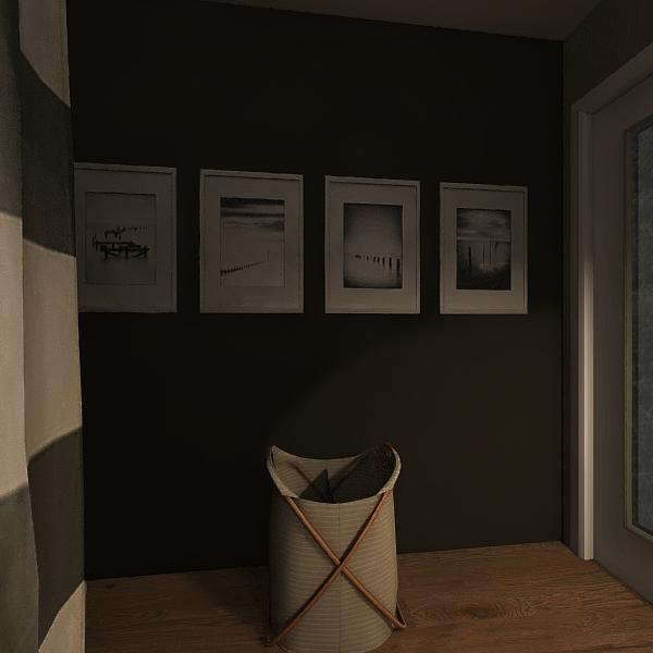 Dorm Room/Bathroom Interior Design Render