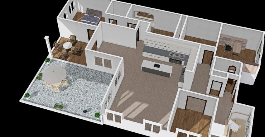 Template 3-2 Interior Design Render