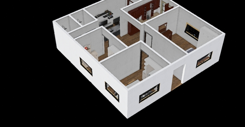 Math: Designing a house Interior Design Render