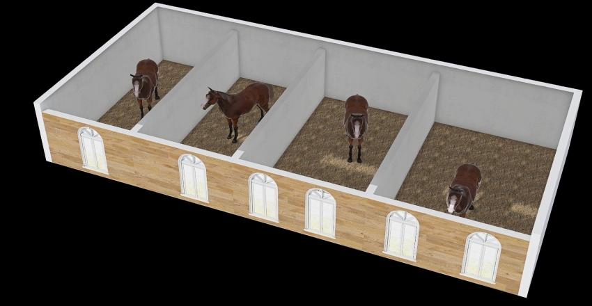 horse Interior Design Render