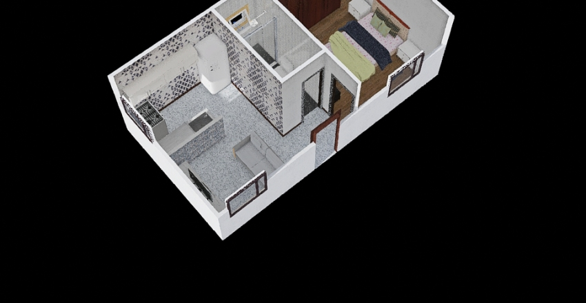 casa dudu Interior Design Render