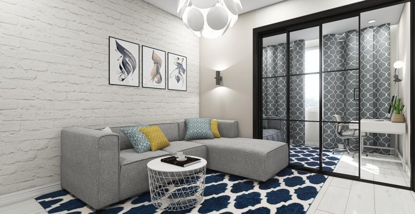 Квартира Паши комната вариант 2 Interior Design Render