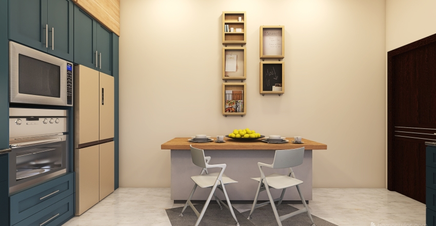 KITCHEN al ىثص  Interior Design Render