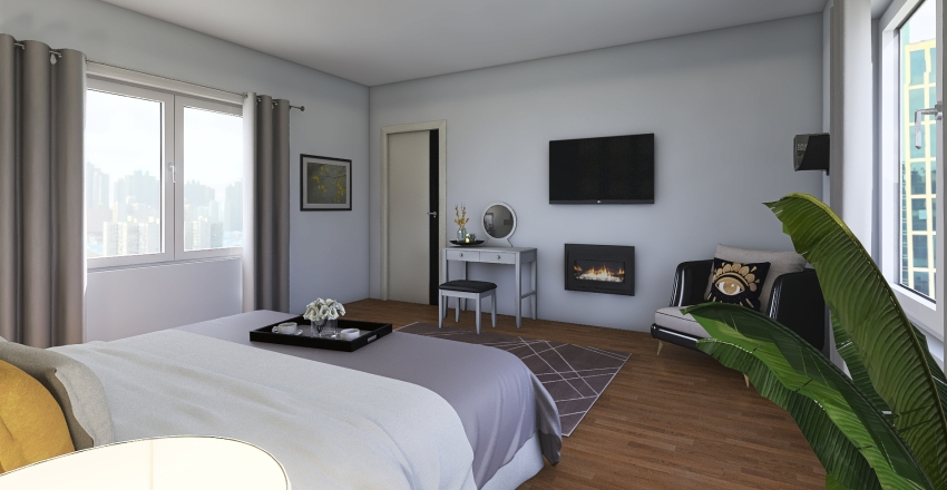 Sophisticated Sleep Interior Design Render