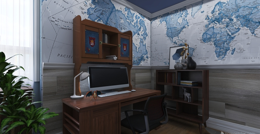 Maps room Interior Design Render