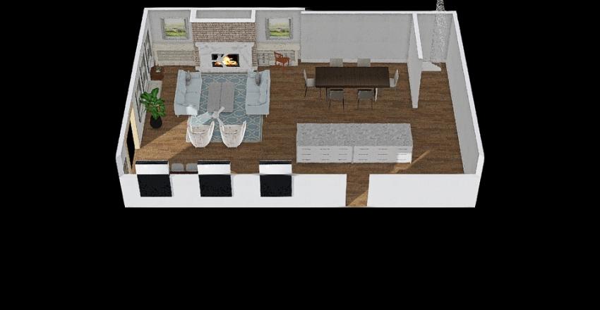 DUNCAN addition Opt 3 FURNISHED Interior Design Render