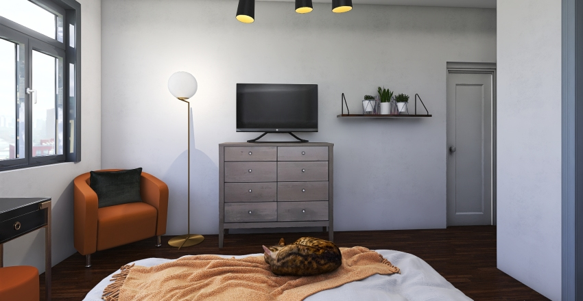 S.M Adult Bedroom Interior Design Render