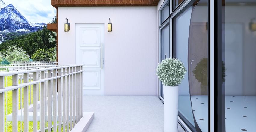 Caasa en desnivel Interior Design Render