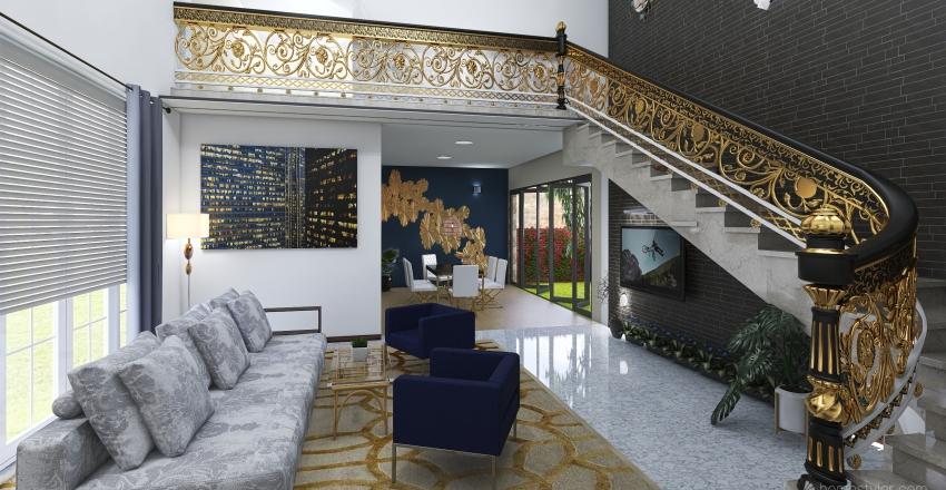 blue house #HSDA2020Residential Interior Design Render