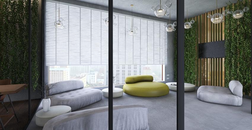 small office interior in loft style Interior Design Render