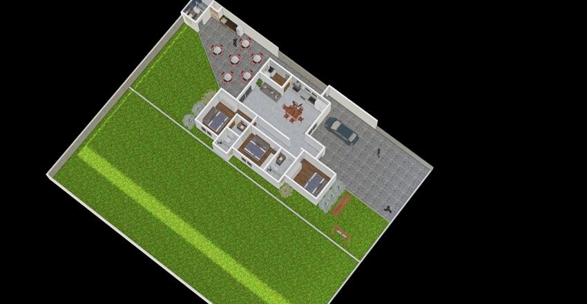 Casa pai 2 demisuites Interior Design Render