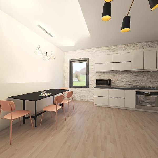 middle house Interior Design Render