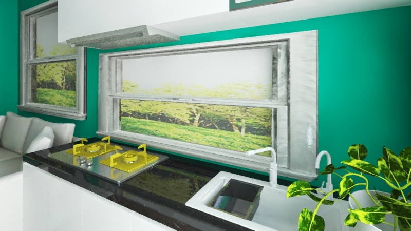 teeny tiny home Interior Design Render