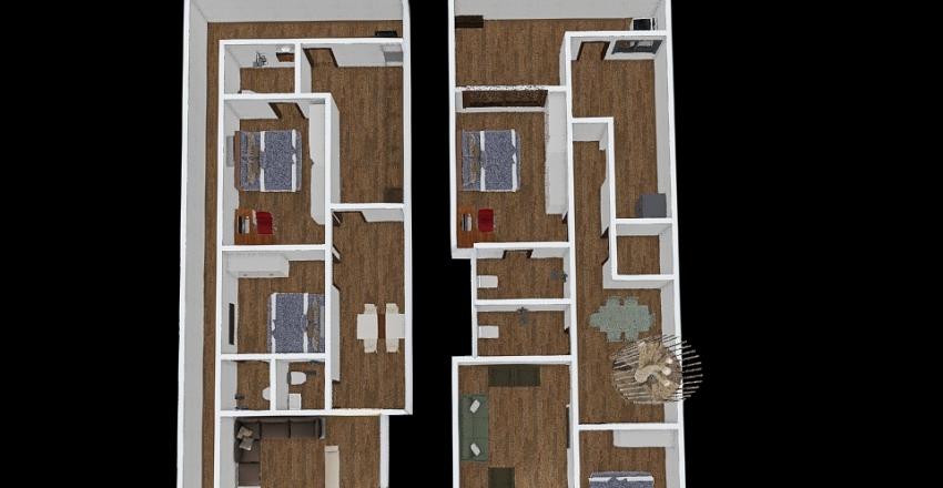 home 22 x 55 Interior Design Render