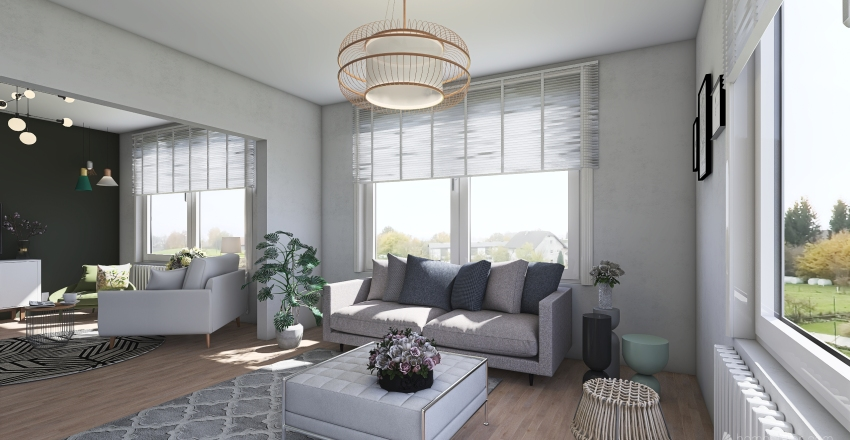 Home Staging project for a realtor home in Germany (Haren) Interior Design Render