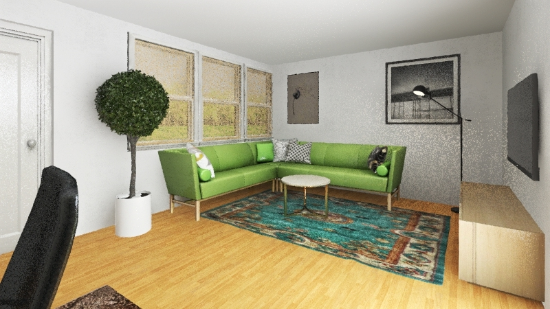 Living room open Interior Design Render