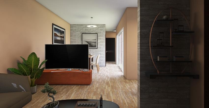 ejercicio de casa un nivel Interior Design Render