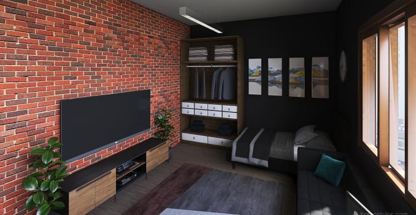 habitacion pequeña Interior Design Render