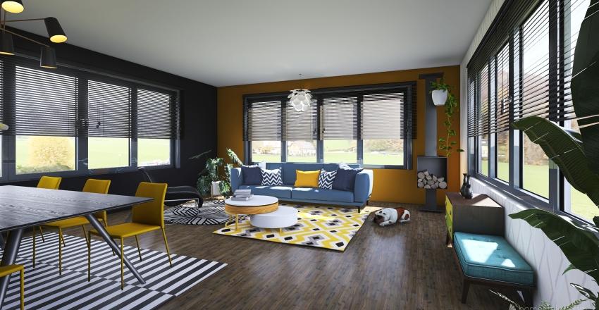 Ocher room Interior Design Interior Design Render
