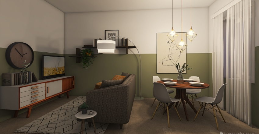 Holiday house La casetta Interior Design Render