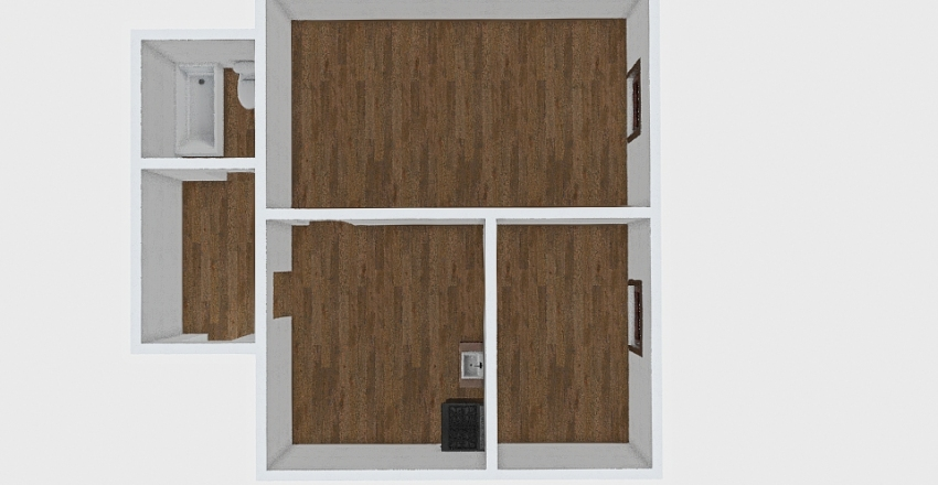 2-комн_0408 Interior Design Render