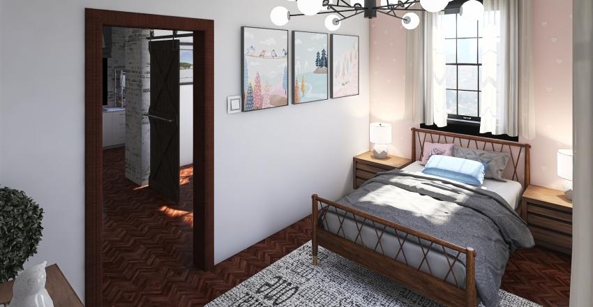 pequeña casa hogareña  Interior Design Render