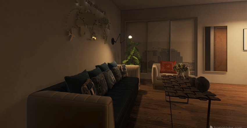 small house Interior Design Render