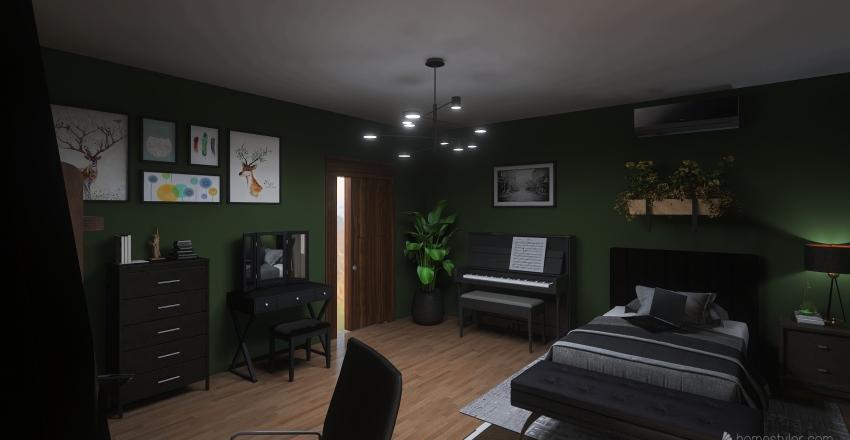 Quarto simples Interior Design Render