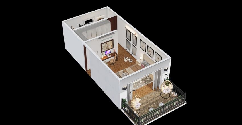 Cuarto Interior Design Render