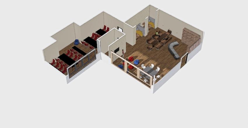 Читальный зал Interior Design Render