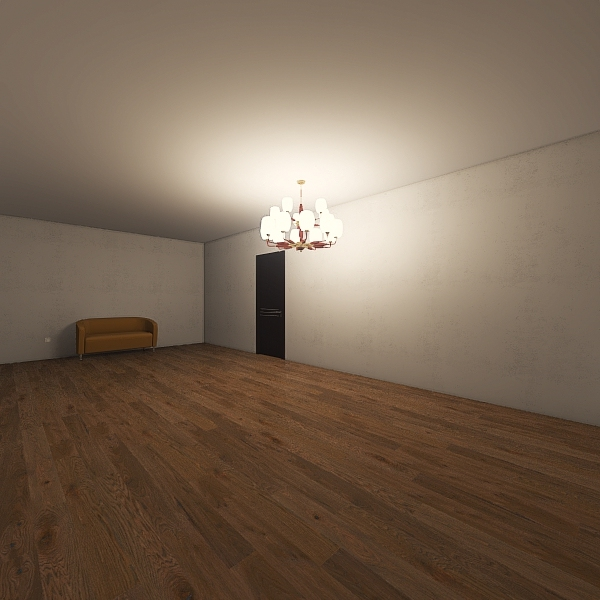 Student Apartment empty proper sizes Interior Design Render