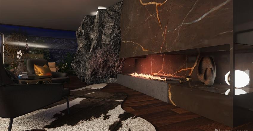 #HSDA2020Residential Mountain House Interior Design Render