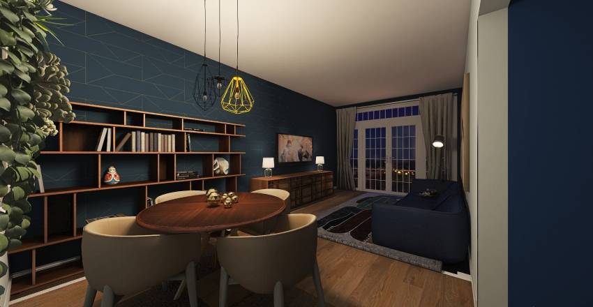 Two-room apartment, Berlin Interior Design Render
