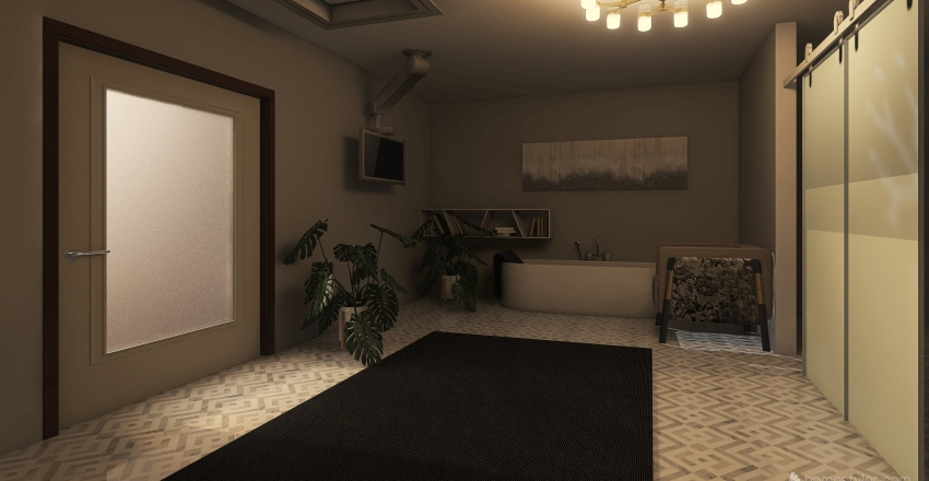 Studio Apartment Design  Interior Design Render