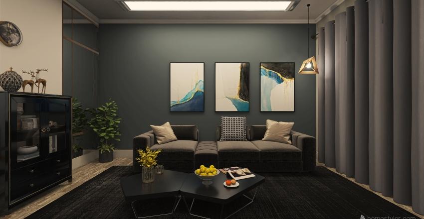 living room2 Interior Design Render