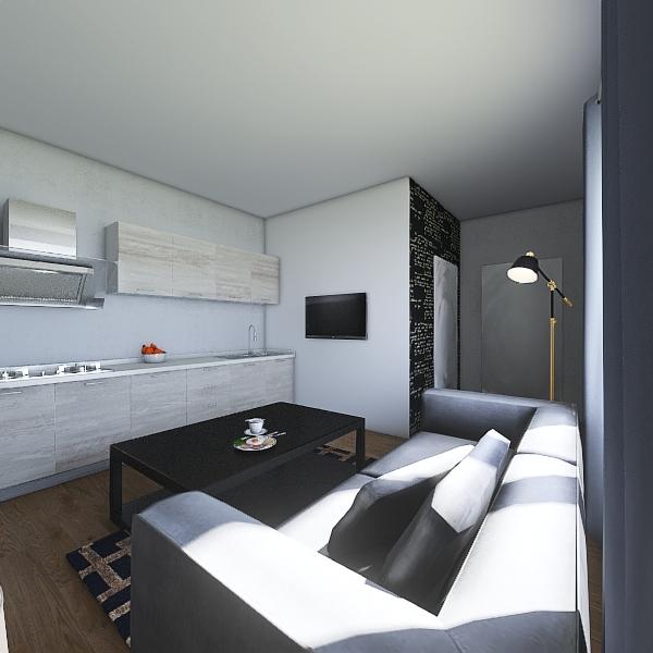 Mieszkanie ul. Mickiewicza 3  Interior Design Render