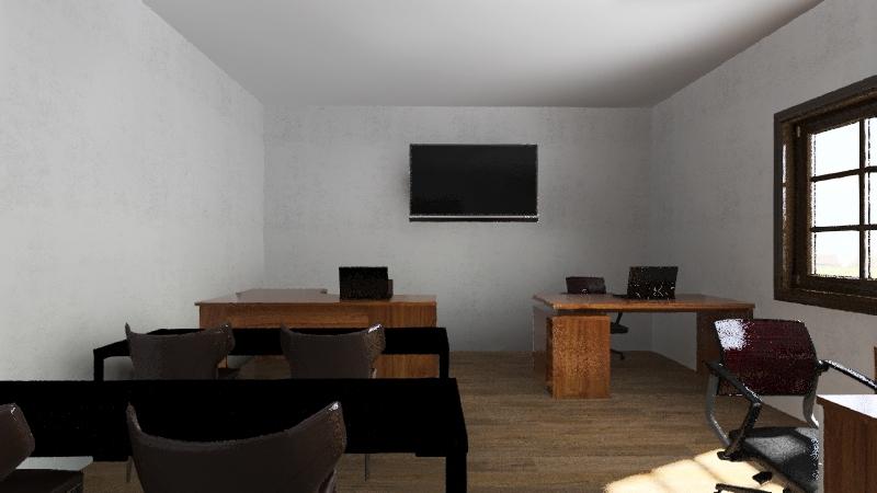Diseño Oficina curso Interior Design Render