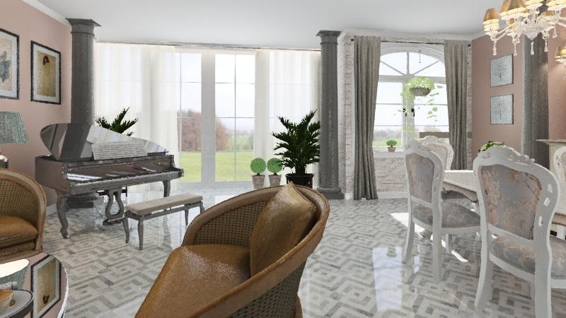 Столовая гостинная Interior Design Render
