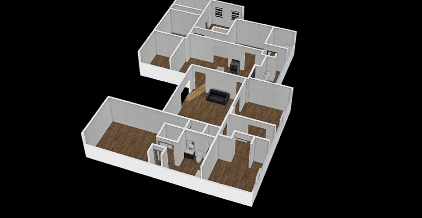 BROWN PROJECT Interior Design Render