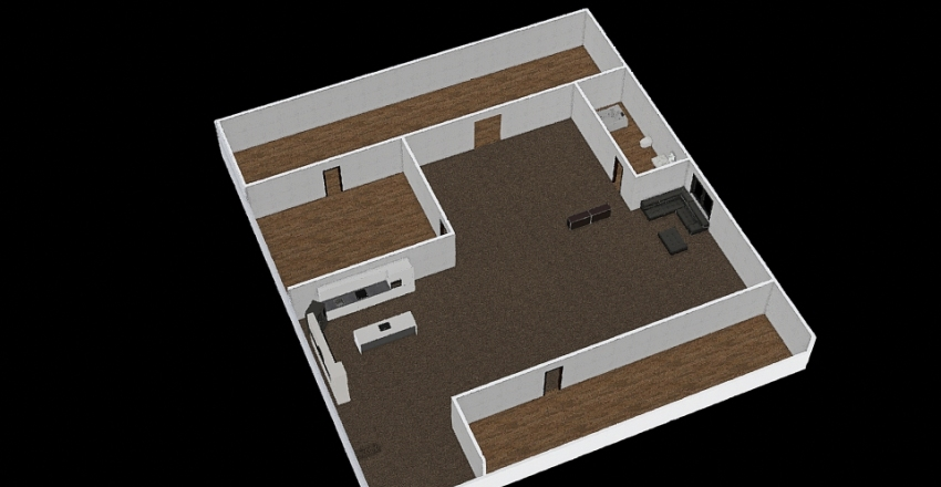 My Basement Interior Design Render
